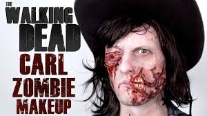 The walking dead colorful zombie makeup tutorial. The Walking Dead Carl Zombie Makeup Tutorial Freakmo Halloween Youtube