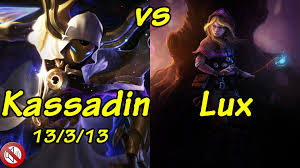 63 TSM xXx as Kassadin vs Lux Mid S5 Ranked game play YouTube