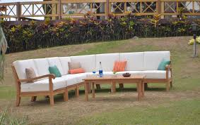 details about 8 pc teak wood garden indoor outdoor patio sectional sofa set furniture napa new