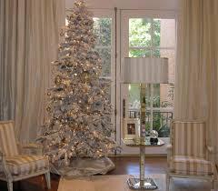 Flocked Christmas Tree Decorating A Flocked Christmas Tree Decoration Image Idea