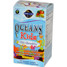 garden of life oceans kids dha chewables age 3 and older berry lime 120 chewable softgels
