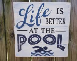Swimming Pool Decor Signs Swimming Pool Signs Etsy 17