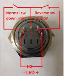 switches 5 pin push button switch led ac wiring question i did some preliminary digging to a compatible wiring diagram for the switch but cannot the voltage amperage settings for the switch s integrated