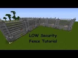 Minecraft fence Wood Minecraft Low Security Fence Tutorial better Youtube Minecraft Low Security Fence Tutorial better Youtube
