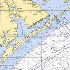 West Galveston Bay Depth Chart Texas San Antonio Bay Seadrift Nautical Chart Decor