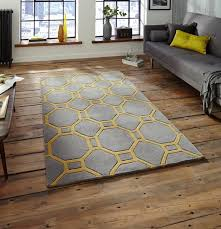 view larger gallery hong kong rug collection acrylic rug in grey and yellow