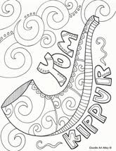 Yom kippur war means arab states and arabic. Yom Kippur Coloring Pages Religious Doodles