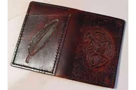 custom leather wallet scandinavian cardholder