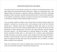 Administrative Assistant Cover Letter Email Bunch Ideas Of Free
