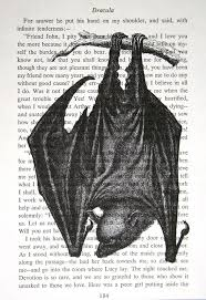 best dracula book ideas bram stoker books bram  bat print on vintage dracula book page 5 x 7 vampire bat halloween print