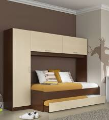 bed with wardrobe. Exellent With McIvan Trundle Bed With Wardrobe In Maple U0026 Tobacco By Mollycoddle For With Pepperfry
