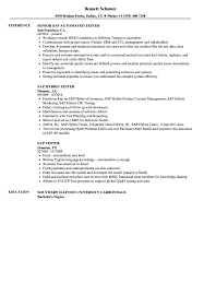 Software Tester Resume Sample SAP Tester Resume Samples Velvet Jobs 14