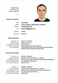 German Resume