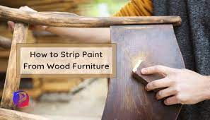 paint from old wood furniture