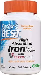 Doctor's Best High Absorption Iron with Ferrochel ... - Amazon.com