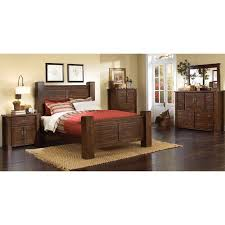 dark pine 4 piece queen bedroom set trestlewood rc willey furniture