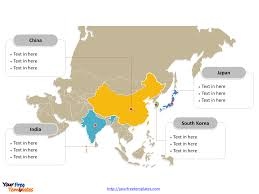 powerpoint map templates map of asia free templates free powerpoint templates