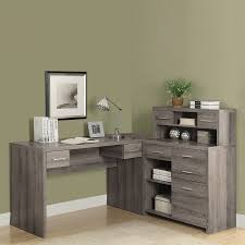 l shaped desk for sale. Interesting For Monarch Specialties Contemporary Dark Taupe LShaped Desk Throughout L Shaped For Sale 0