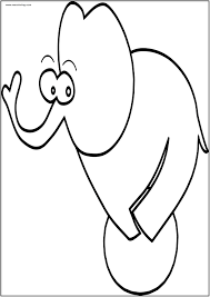 Cartoon Elephant Coloring Page Wecoloring
