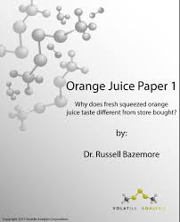 Orange Juice 1 Of 2 White Paper Volatile Analysis