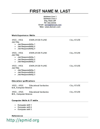 Resume Template On Microsoft Word 2007 Microsoft Word Resume Template