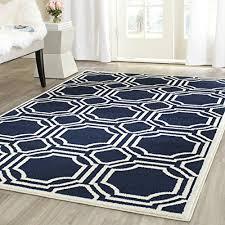 navy outdoor rug. Safavieh Amherst Collection AMT411P Navy And Ivory Indoor/Outdoor Area Rug (3\u0027 X 5\u0027) Outdoor