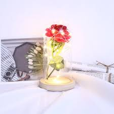 Enchanted Led Rose Light Beauty The Beast Battery Powered Enchanted Led Rose Lamp