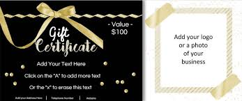 Image Result For Free Customizable Gift Certificate Template