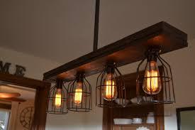 wood lighting. Triple Wood 4-Light Kitchen Island Pendant Lighting E
