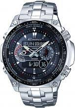 "casio watches edifice g shock more watch shop comâ""¢ mens casio edifice waveceptor alarm chronograph radio controlled solar powered watch ecw m300edb 1aer"