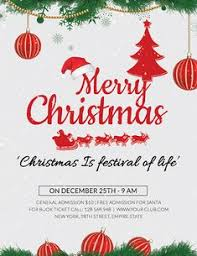 Free Christmas Party Invitation Templates Christmas Celebration Free Psd Flyer Template Free Psd Flyer
