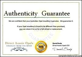 Certificate Of Authenticity Template Simple Certificate Of Authenticity Word Template Unofficialdb