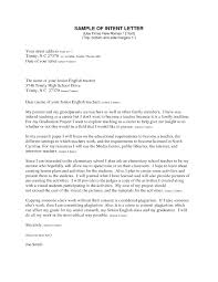 Intent Letter Sample For School 013 Template Ideas Letter Of Intent Job Fascinating