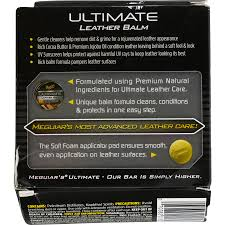 meguiar s ultimate leather balm clean condition protect your leather nbsp g18905 5 64 oz com