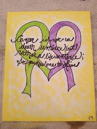 8x10 canvas painting featuring inspirational Cancer quote on Etsy ... via Relatably.com