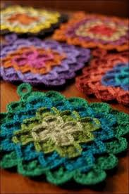Crochet Potholder Patterns Adorable Crochet Potholder Howto Crafty Knitting Crochet Pinterest