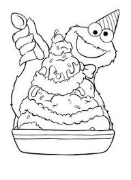 Awesome Sesame Street Cookie Monster Coloring Pages Fangjianme