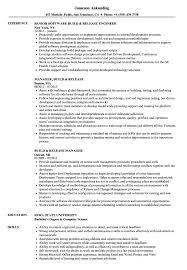 Build Release Resume Samples Velvet Jobs