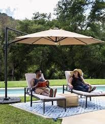 led cantilever offset patio umbrella