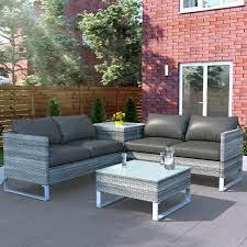 rattan outdoor corner sofa set with