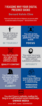 infographic reasons why your digital presence sucks why digital presence sucks