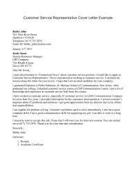 Customer Service Cover Letter Sample Resume Cover Letter Resume