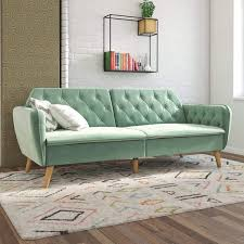 memory foam sofa bed light green