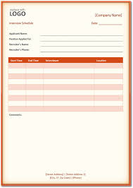 Schedule Forms Printable 5 Interview Schedule Templates 8211 Download Word Pdf