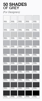 50 Shades Of Grey For Designers Cor Grey Colour Chart