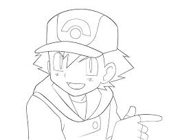 Small Picture 7 Pics Of Ash Pokemon BW Coloring Pages Pokemon Ash Ketchum