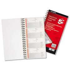 telephone message book 5 star office telephone message book wirebound carbonless 320 notes