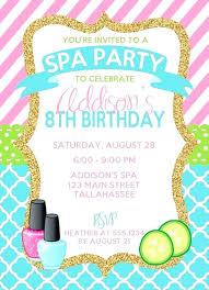 Free Printable Spa Party Invitations Memokids Co