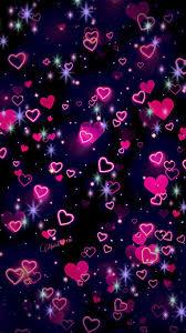 Hearts Neon Wallpaper, Wallpaper For ...
