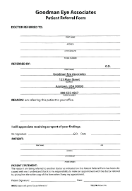 Medical Referral Form Templates At Forms Template Pdf Free